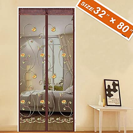 Spritech Embroider Flower Style Screen Door French Door Magnets 32