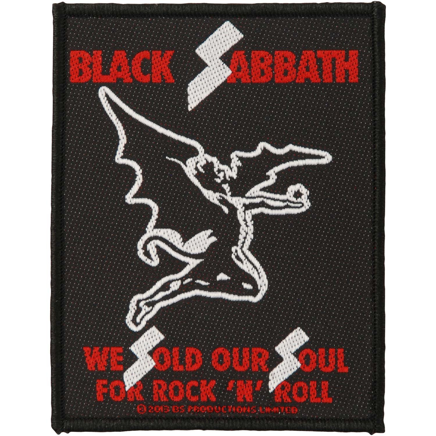 Black Sabbath Sold Our Souls Patch Black Officially Liscenced Product 602315