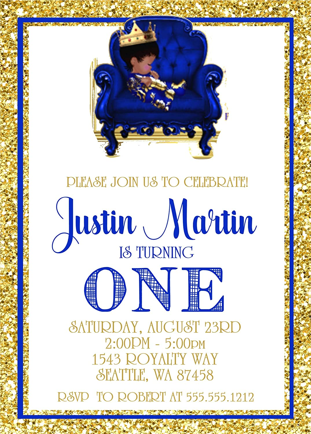 Amazon Com Prince First Birthday Party Invitations Prince First