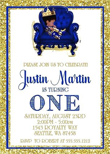 Amazon Com Prince First Birthday Party Invitations Prince