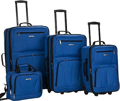mosquito Maquinilla de afeitar arcilla  Amazon.com: Rockland juego de 4 piezas de valijas con ruedas y bolsas para  viaje, Azul), F32-BLUE