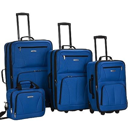 Amazon.com: Rockland juego de 4 piezas de valijas con ruedas ...