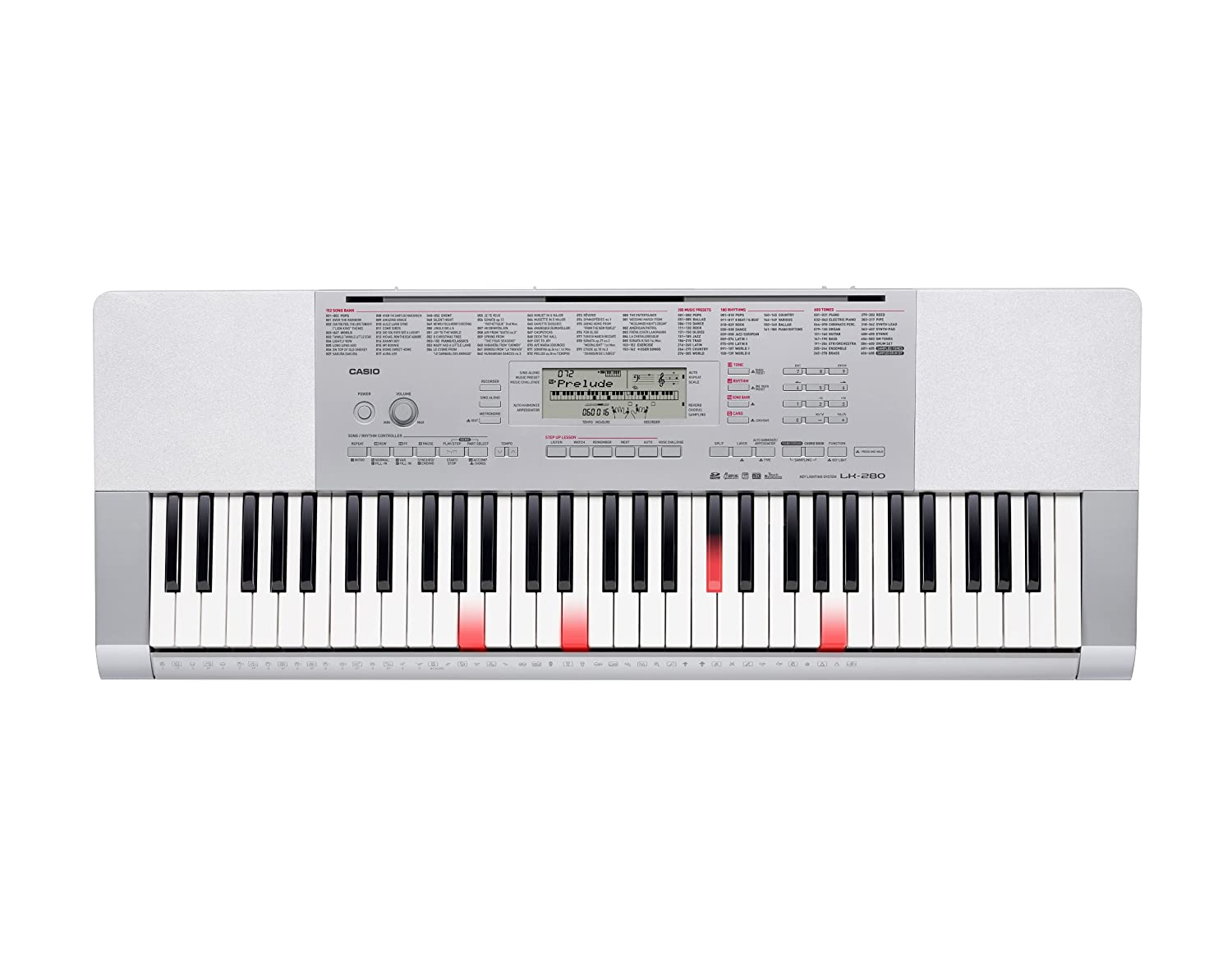Casio LK-190 61-Key Premium Lighted Keyboard Pack with Stand, Headphones & Power Supply LK-190 PPK