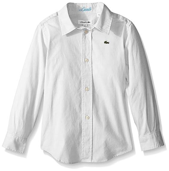 boys white lacoste shirt