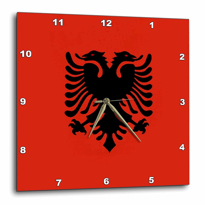 10 by 10-Inch 3dRose dpp/_28213/_1 Albania Flag-Wall Clock