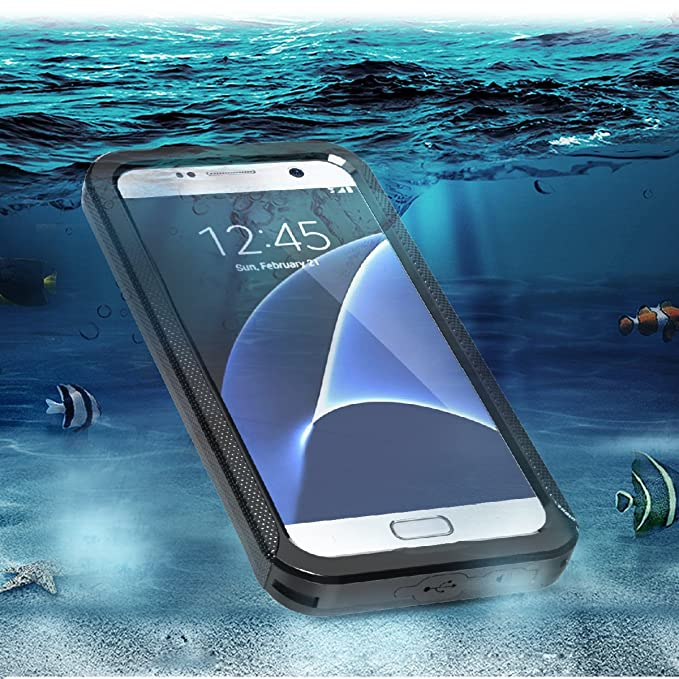 buy popular 05d1f d2047 Amazon.com: Samsung Galaxy S7 Waterproof Case, FugouSell Full Sealed ...