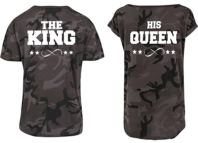 Urban Kingz Pareja 2X Camiseta Oversize Camouflage T-Shirt Modelo The King & His Queen