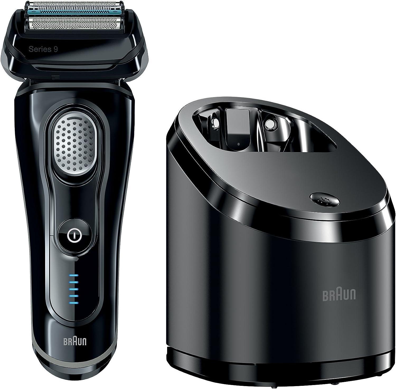 Braun Series 9 9050cc - Afeitadora (Papel aluminio, Negro, Batería/Corriente, Ión de litio, 1h, Carga, Cleaning): Amazon.es: Salud y cuidado personal