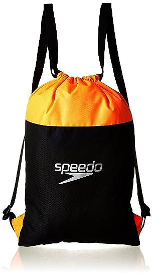 Speedo Pool Mochila, Unisex Adulto, Negro/Naranja Fluorescente, Talla Única