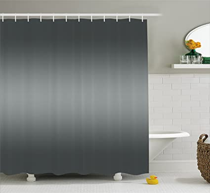 Ambesonne Ombre Shower Curtain Fume Fog Dark Smoke Industry Theme Inspired Gray Colored Modern