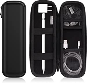 "MoKo Holder Case Fit Apple Pencil/Apple Pencil 2, PU Leather Case for Samsung Stylus Pen Surface Pen, Fit iPad 10.2 2019/iPad Air (3rd Gen) 10.5""/iPad Pro 11 2020/iPad Pro 12.9 2020 Pencil - Black"