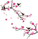 Blossoms and Branches Decorative Peel & Stick Wall Art Sticker Decals