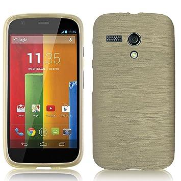 elecdorith TPU Suave Case Brushed Silicona Carcasa para Motorola Moto G pantalla 4.5
