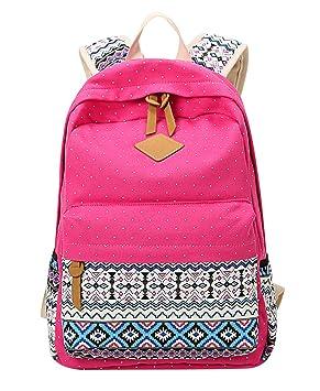Mochilas Escolares Juveniles Chica Mujer Mochila Escolar Juvenil Mochilas Bolsos para el Colegio Instituto Universitarias Estampadas Pokal Dot Backpack ...