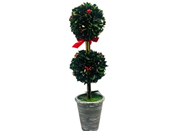boxwood double topiary ball from southern living by dillards christmas decoration