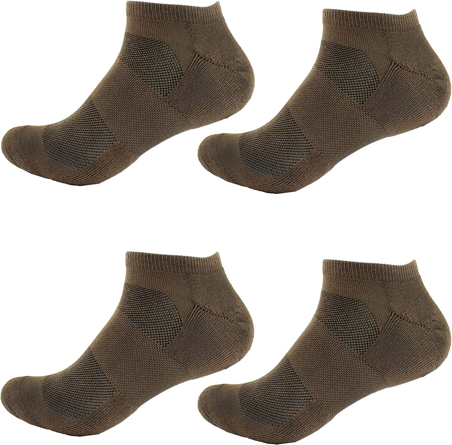 Men's Rayon from Bamboo Fiber Colored Sports Superior Wicking Athletic Ankle Socks - 4 Pair Value Pack at  Men's Clothing store