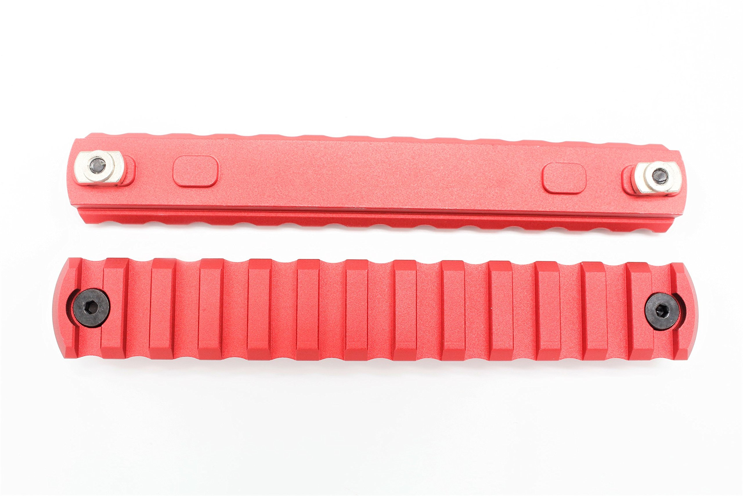 13 Slots M-lok Picatinny/Weaver Rail Sections Red Anodized for M-lok Handguard System by Active-8
