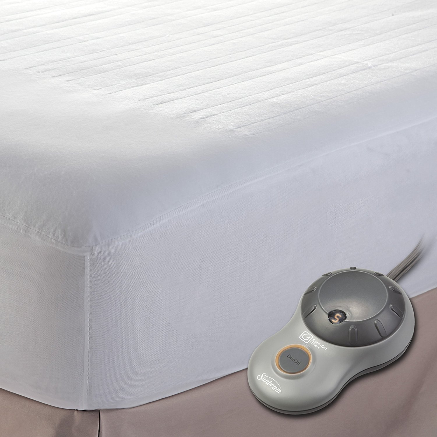 Sunbeam Heated Mattress Pad | Polyester, 10 Heat Settings, Twin