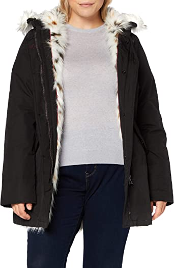 Canadian Classics Fundy Bay Fake Fur Parka Voor Dames Amazon Nl