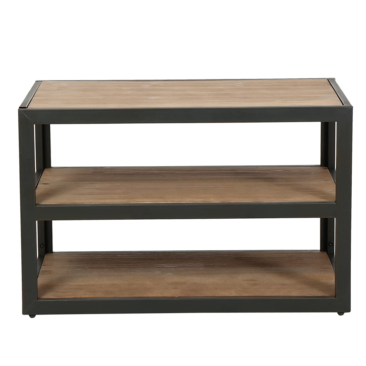 abfe8325b791a Attractive Amazon.com  Lundin 3-Shelf Industrial Media Console  Kitchen    Dining
