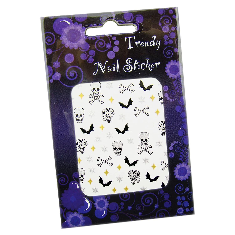 Gothic Halloween Nailart Sticker Nagelsticker Scary Skulls Beauty