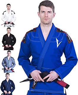 Vector Kimono Gi de jiu-jitsu brésilien JJB avec ceinture blanche gratuite Tissu 100% coton tissage perlé prérétréci léger Série Attila