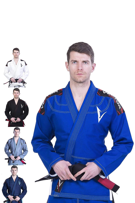 Vector Lightweight Preshrunk Brazilian Jiu Jitsu BJJ Gi Kimono with Free  White Belt Pearl Weave 100% Cotton Fabric Attila Series