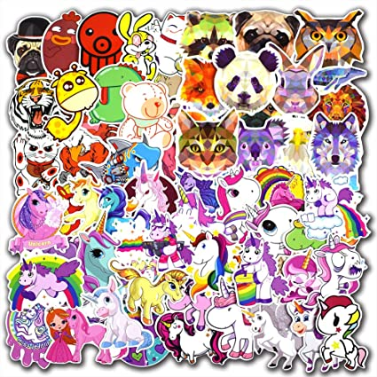 135 pcs unicorn and animals stickers for laptop car luggage bicycle motorcycle computer skateboard snowboard water
