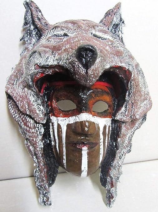 Hecho a mano máscara Hombres mascarada partido indio Totem pintura acrílica de papel maché