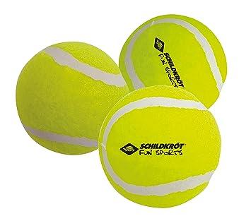 timeless design 1ae3c 2ddd7 Schildkröt Freitzeit-Tennisbälle, 3 Stück, drucklos im Meshbag, gelber  Filz, für das erste Tennis-Spiel auf der Strasse, im Hof, 970048