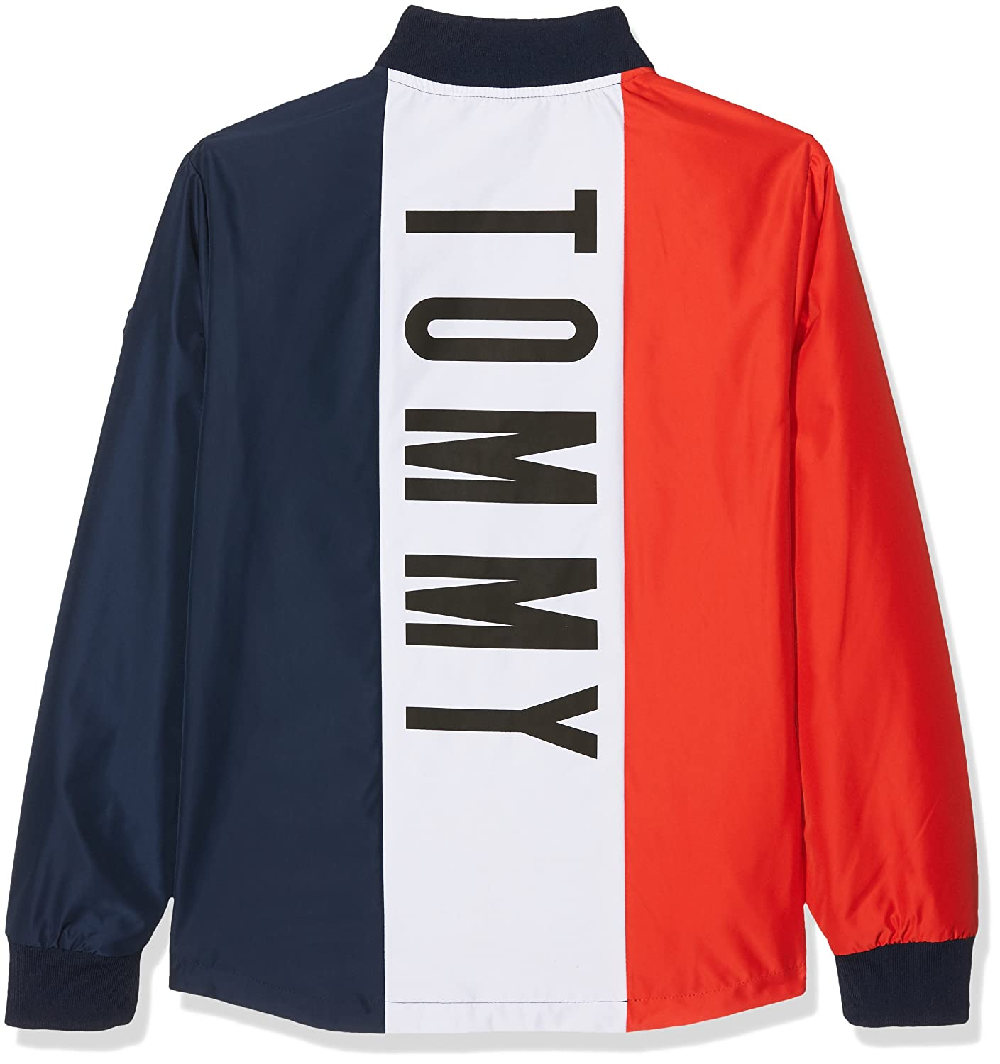 83d157bc Tommy Hilfiger Boy's S Reversible Cracker Jacket, Multicoloured (Blue/Red  002), 116: Amazon.co.uk: Clothing