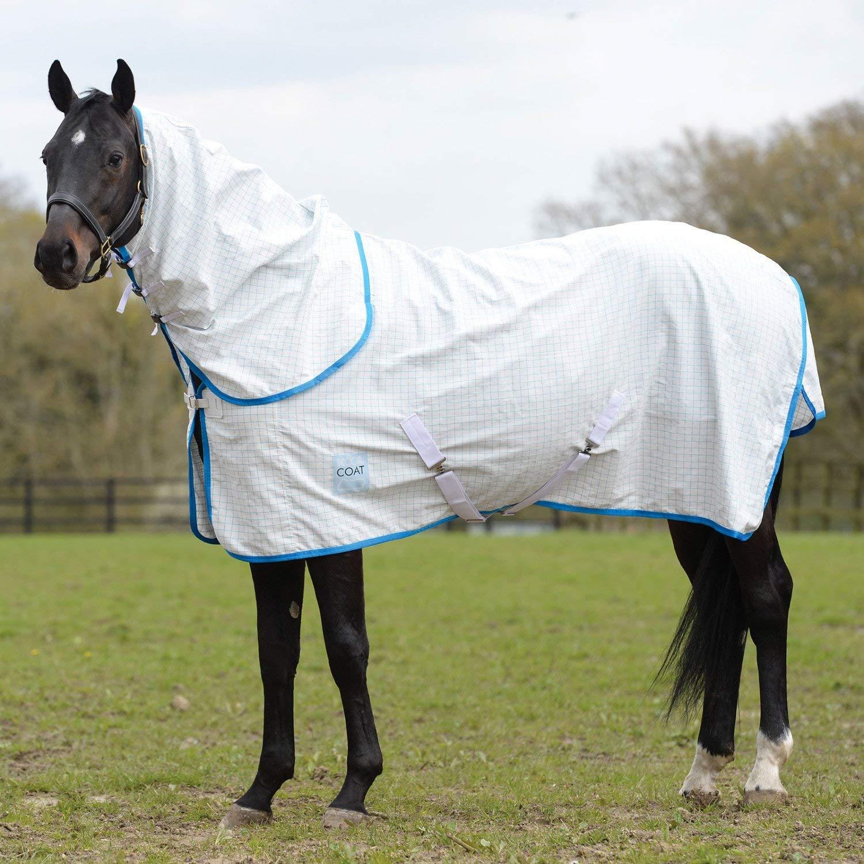 White//Blue New Kool Coat Lite Standard Neck Rug Was £34.99