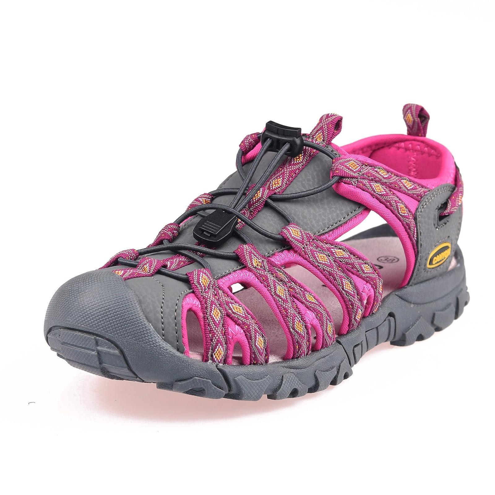 GRITION Women Outdoor Summer Sandals Adjustable Closed - 8