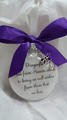 Amazon.com: Dragonfly Memorial Christmas Ornament Gift - Dragonflies ...