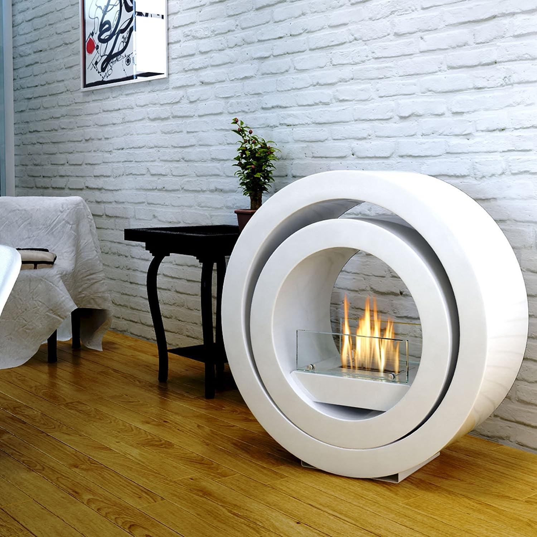 imagin bio ethanol fireplace globus white amazon co uk diy u0026 tools
