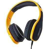 Headphone Over Ear Stereo Áudio, Pulse, Fone de Ouvido com Microfone Integrado - PH148, Preto e Laranja