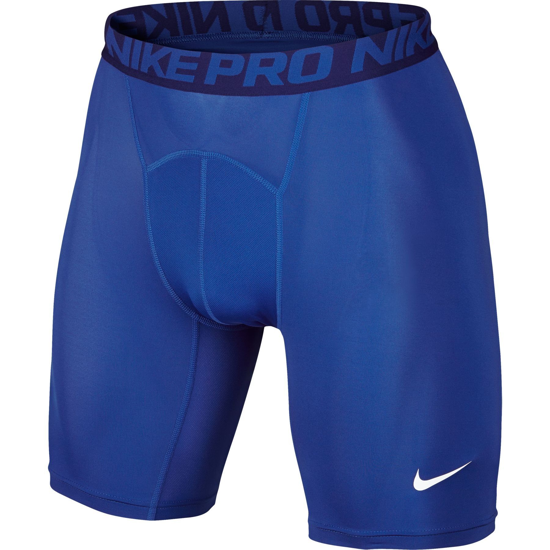 Nike Pro Combat Men's 6'' Compression Shorts Underwear,Game Royal/Deep Royal Blue/White,Large