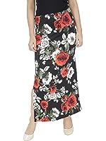 Franclo Women's Floral print Skirt (Best fit 28-32 waist)