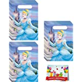Cinderella Birthday Party Favor Treat Bags Bundle Pack of 24