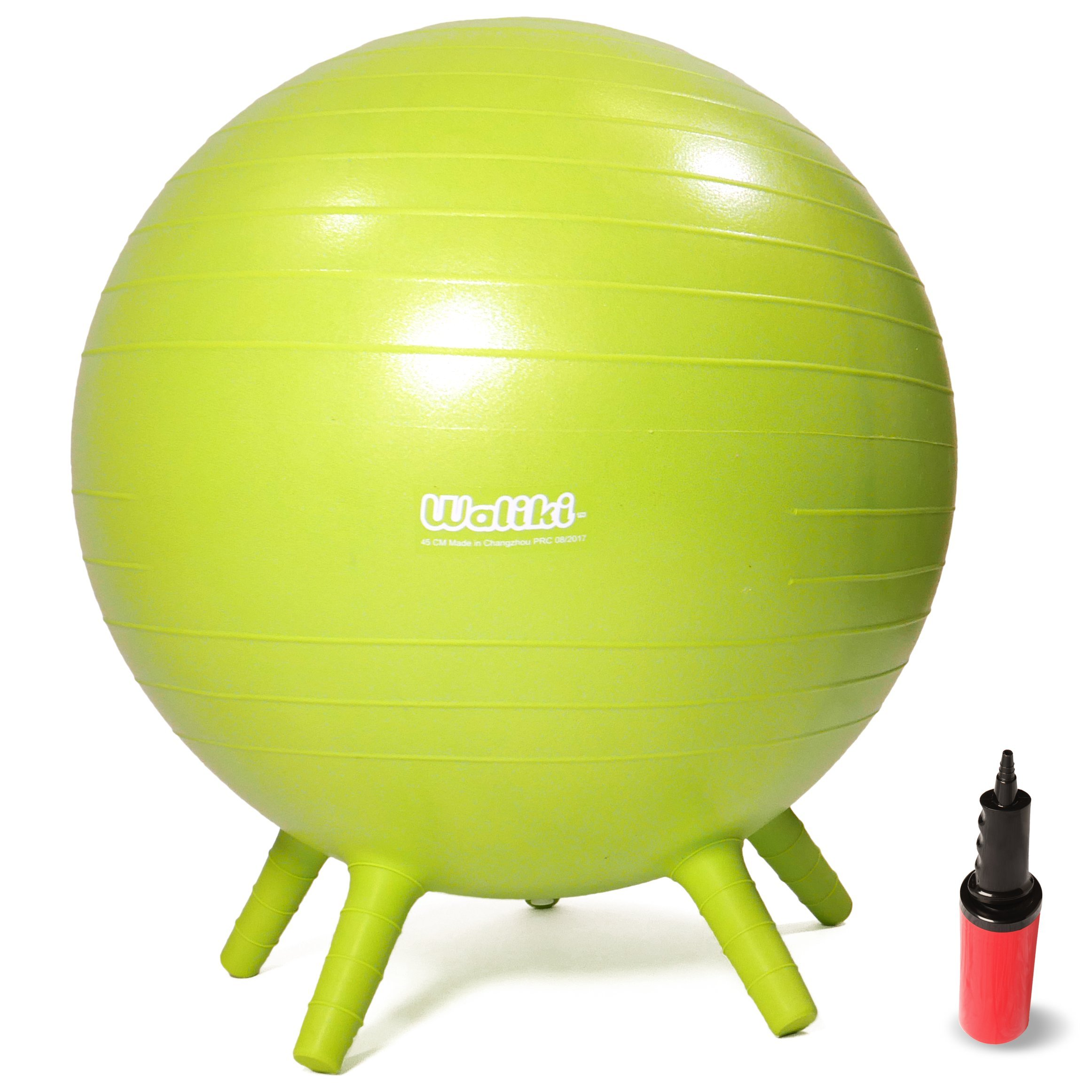 WALIKI Adult Size Chair Ball with Stability Legs | Balance Ball Chair School & Office | 30''/75CM Green by WALIKI