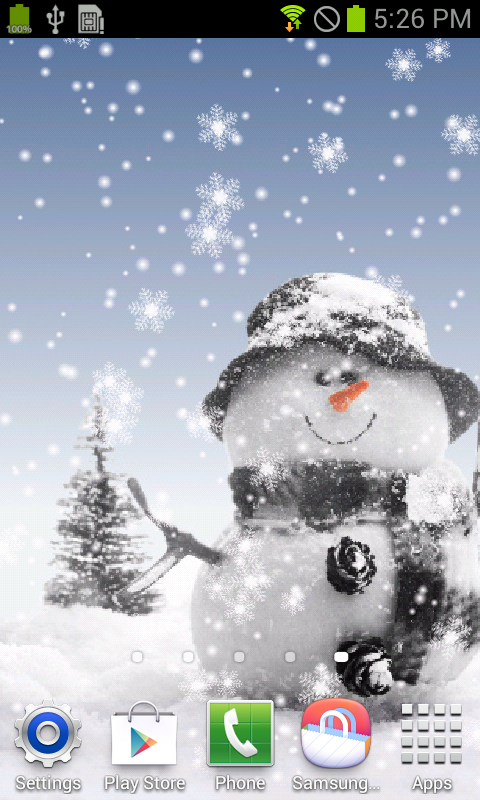 Amazon Snowman Live Wallpaper Appstore For Android