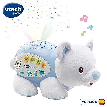 VTech Baby - Ártico estrellitas, Proyector de Bebe con música Relajante para ayudarle a Dormir, Historias, Sonidos de la Naturaleza, rimas Infantiles ...