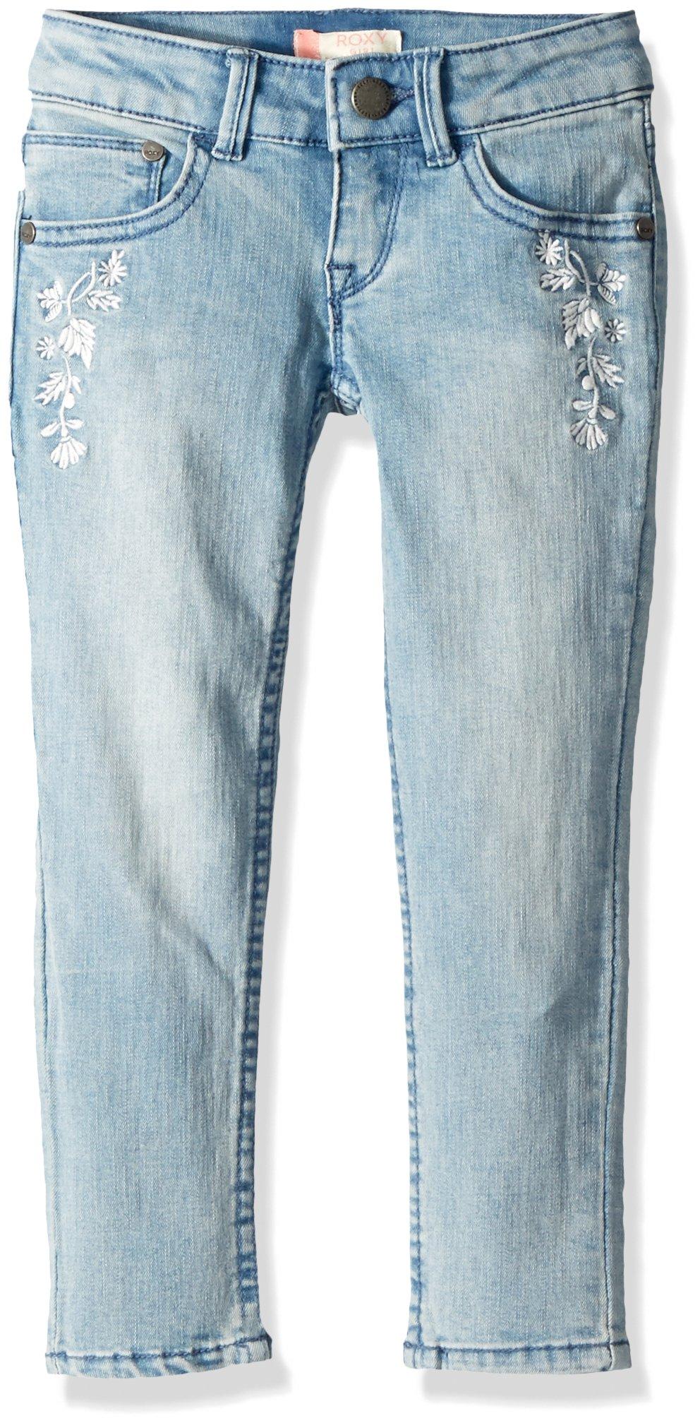 Roxy Little Girls' Blow Me Away Denim Pants, Vintage Wash, 6