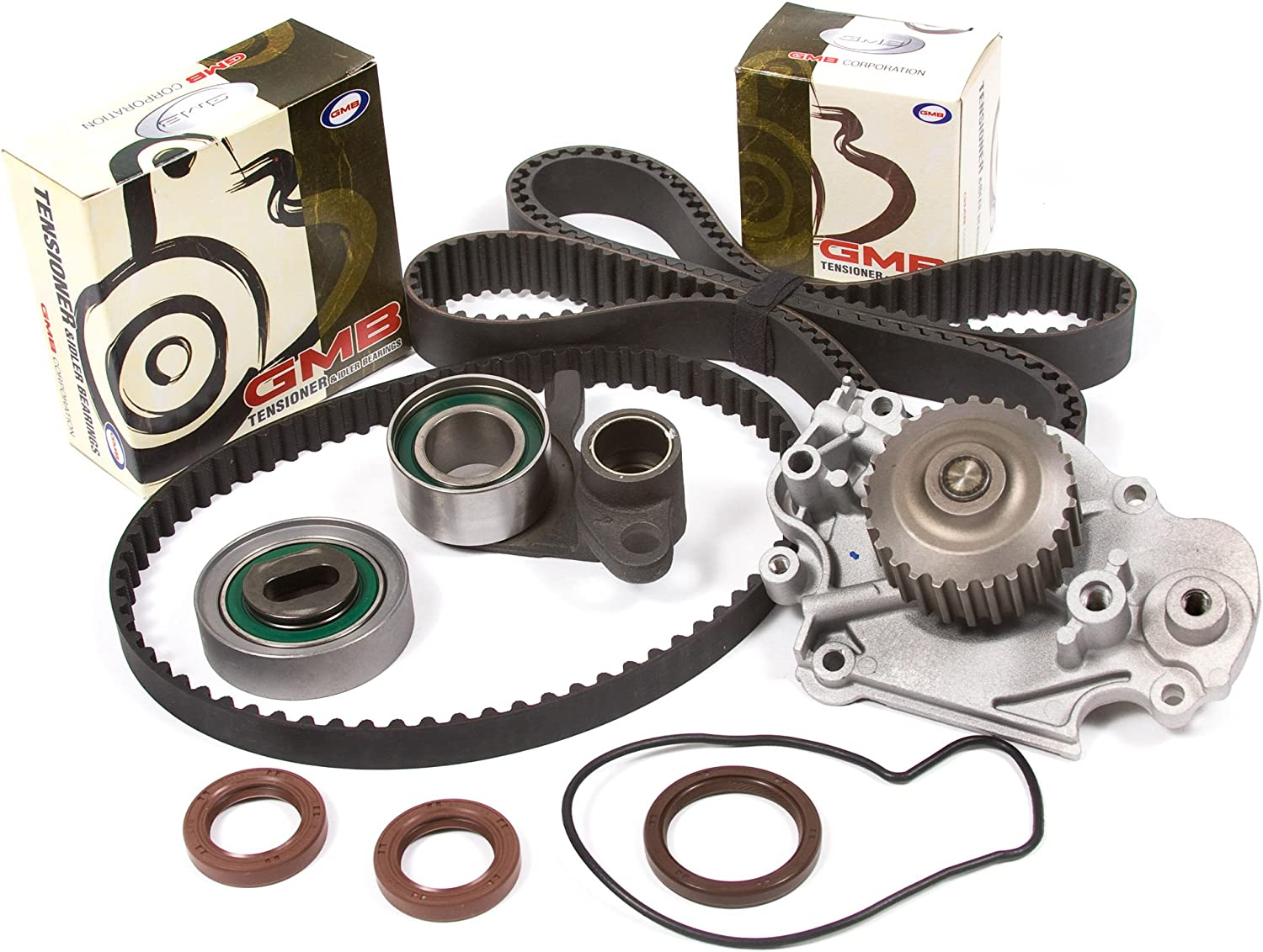 Evergreen TBK226WPT Fits 93-01 Honda Prelude VTEC 2.2L H22A1 H22A4 Timing Belt Kit Water Pump