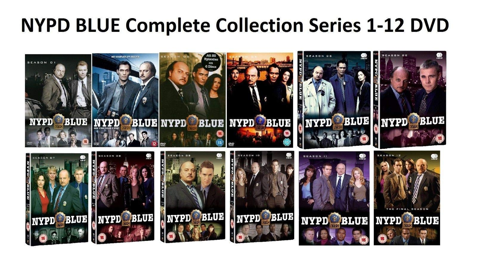 NYPD Blue: The Complete Series Seasons 1-12 DVD
