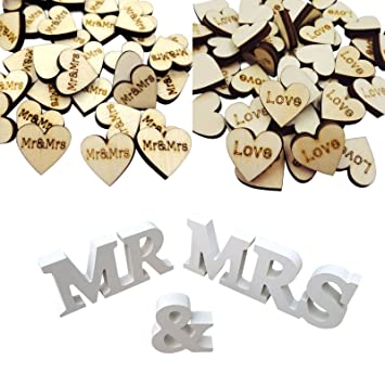 Holz Girlande Mr /& Mrs