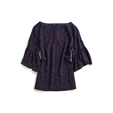 38fe06f8dd6 Tommy Hilfiger Women s Adaptive Ruffle Top with Magnetic Buttons at Amazon  Women s Clothing store