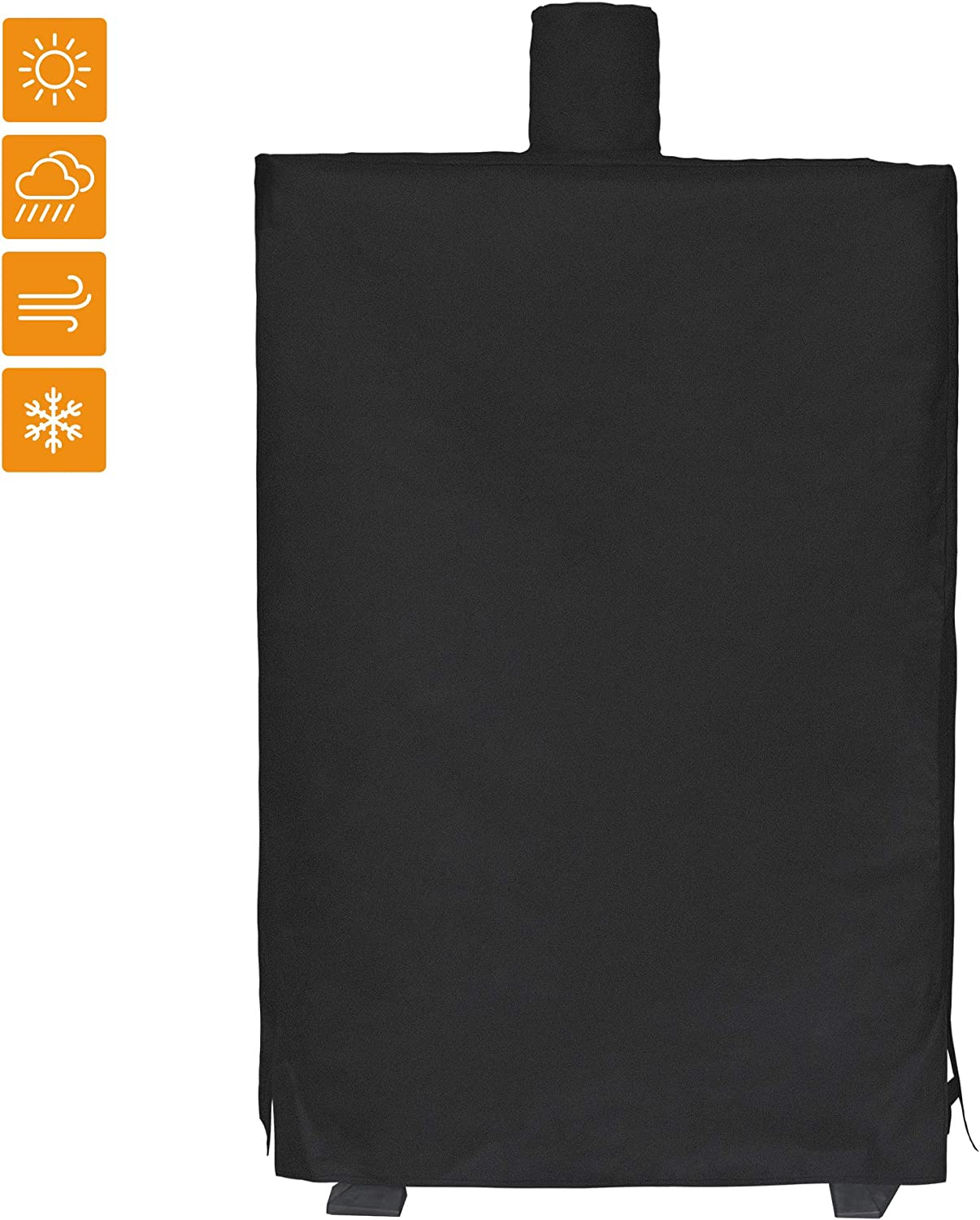 i COVER 73550 Pellet Smoker Cover for Pit Boss Grills 77550 5.5 and 5 Series PBV5P1, pro Series 4 Vertical Pellet Smokers PBV4PS1 600D Waterproof Heavy-Duty Canvas Vertical Smoker Cover