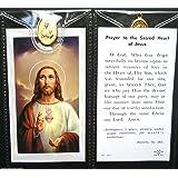 Sacred Heart ~ Prayer Card and Medal