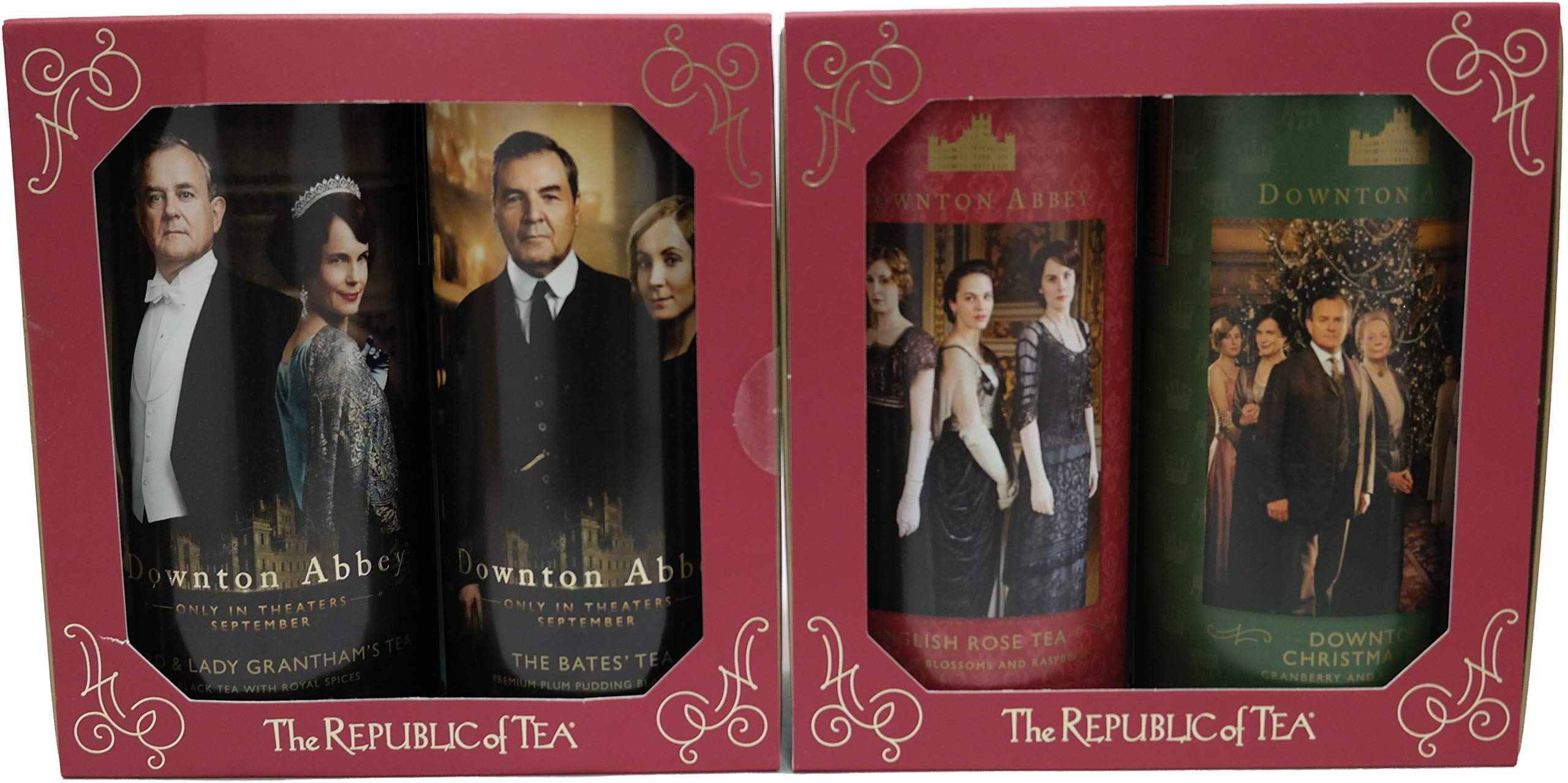 Downton AbbeyTea Holiday & Movie Collector's Set (Variety Pack of 4) by Republic Tea